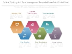 Critical Thinking And Time Management Template Powerpoint Slide Clipart
