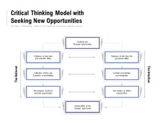 Critical Thinking Model With Seeking New Opportunities Ppt PowerPoint Presentation Layouts Samples