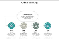 Critical Thinking Ppt PowerPoint Presentation Outline Introduction Cpb