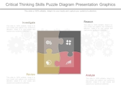 Critical Thinking Skills Puzzle Diagram Presentation Graphics