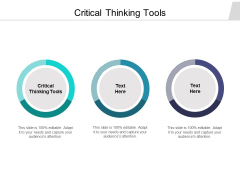 Critical Thinking Tools Ppt PowerPoint Presentation Model Format Ideas Cpb Pdf