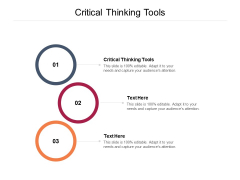 Critical Thinking Tools Ppt PowerPoint Presentation Slides Format Ideas Cpb Pdf