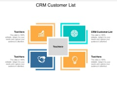 Crm Customer List Ppt PowerPoint Presentation Layouts Backgrounds Cpb