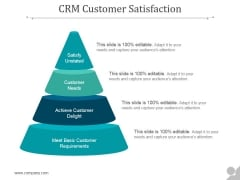 Crm Customer Satisfaction Ppt PowerPoint Presentation Professional