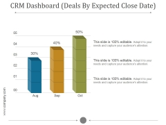 Crm Dashboard Deals By Expected Close Date Ppt PowerPoint Presentation Background Images