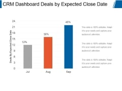 Crm Dashboard Deals By Expected Close Date Ppt PowerPoint Presentation Icon