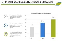 Crm Dashboard Deals By Expected Close Date Ppt PowerPoint Presentation Portfolio Icons