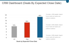 Crm Dashboard Deals By Expected Close Date Ppt PowerPoint Presentation Styles