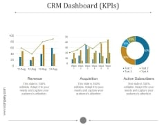 Crm Dashboard Kpis Ppt PowerPoint Presentation Pictures