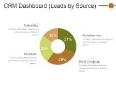 Crm Dashboard Leads By Source Ppt PowerPoint Presentation File Graphics Template