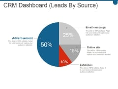 Crm Dashboard Leads By Source Ppt PowerPoint Presentation Inspiration