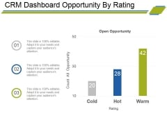 Crm Dashboard Opportunity By Rating Ppt PowerPoint Presentation Portfolio Deck