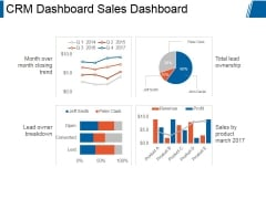 Crm Dashboard Sales Dashboard Ppt PowerPoint Presentation Themes