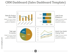 Crm Dashboard Sales Dashboard Template Ppt PowerPoint Presentation Inspiration