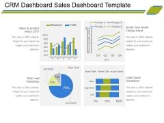 Crm Dashboard Sales Dashboard Template Ppt PowerPoint Presentation Portfolio Master Slide