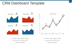 Crm Dashboard Template Ppt PowerPoint Presentation Graphics