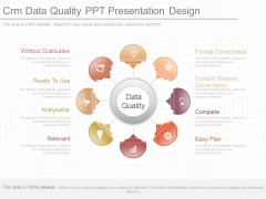 Crm Data Quality Ppt Presentation Design