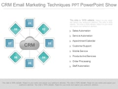 Crm Email Marketing Techniques Ppt Powerpoint Show