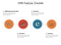 Crm Features Checklist Ppt PowerPoint Presentation Pictures Slideshow Cpb Pdf