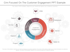 Crm Focused On The Customer Engagement Ppt Example