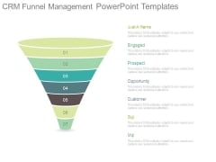 Crm Funnel Management Powerpoint Templates