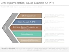 Crm Implementation Issues Example Of Ppt