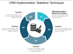 Crm Implementation Statistical Techniques Ppt PowerPoint Presentation Visual Aids Infographics Cpb