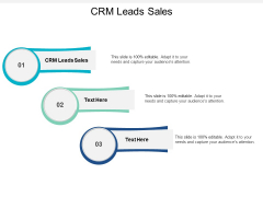 Crm Leads Sales Ppt PowerPoint Presentation Icon Deck Cpb