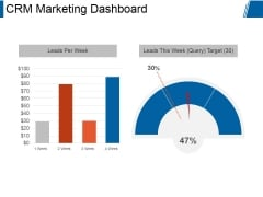 Crm Marketing Dashboard Ppt PowerPoint Presentation Designs