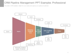 Crm Pipeline Management Ppt Examples Professional