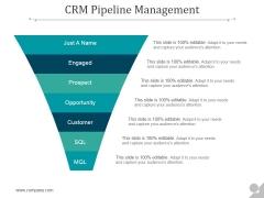 Crm Pipeline Management Ppt PowerPoint Presentation Clipart