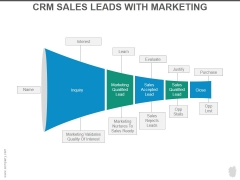 Crm Sales Leads With Marketing Ppt PowerPoint Presentation Guidelines