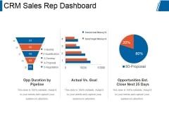 Crm Sales Rep Dashboard Ppt PowerPoint Presentation Influencers