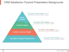 Crm Satisfaction Pyramid Presentation Backgrounds