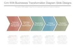 Crm With Businesses Transformation Diagram Slide Designs