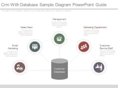 Crm With Database Sample Diagram Powerpoint Guide