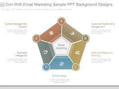 Crm With Email Marketing Sample Ppt Background Designs