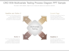Cro With Multivariate Testing Process Diagram Ppt Sample
