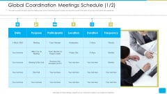 Cross Border Integration In Multinational Corporation Global Coordination Meetings Schedule Rules PDF