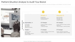 Cross Channel Marketing Communications Initiatives Perform Situation Analysis To Audit Your Brand Graphics PDF
