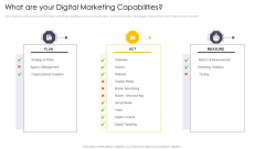 Cross Channel Marketing Communications Initiatives What Are Your Digital Marketing Capabilities Ideas PDF