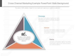 Cross Channel Marketing Example Powerpoint Slide Background