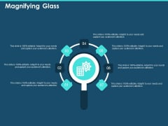 Cross Channel Marketing Plan For Clients Magnifying Glass Ppt Portfolio Templates PDF