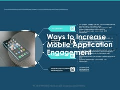 Cross Channel Marketing Plan For Clients Ways To Increase Mobile Application Engagement Portrait PDF