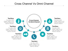 Cross Channel Vs Omni Channel Ppt PowerPoint Presentation Inspiration Slide Download Cpb