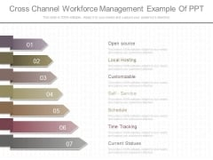 Cross Channel Workforce Management Example Of Ppt