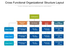 Cross Functional Organizational Structure Layout Ppt PowerPoint Presentation Gallery Deck PDF