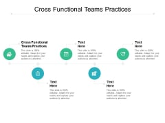 Cross Functional Teams Practices Ppt PowerPoint Presentation Styles Ideas Cpb