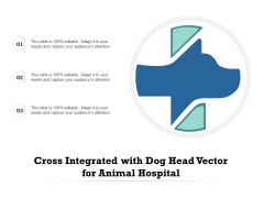 Cross Integrated With Dog Head Vector For Animal Hospital Ppt PowerPoint Presentation File Deck PDF