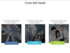 Cross Sell Upsell Ppt PowerPoint Presentation Infographic Template Diagrams Cpb